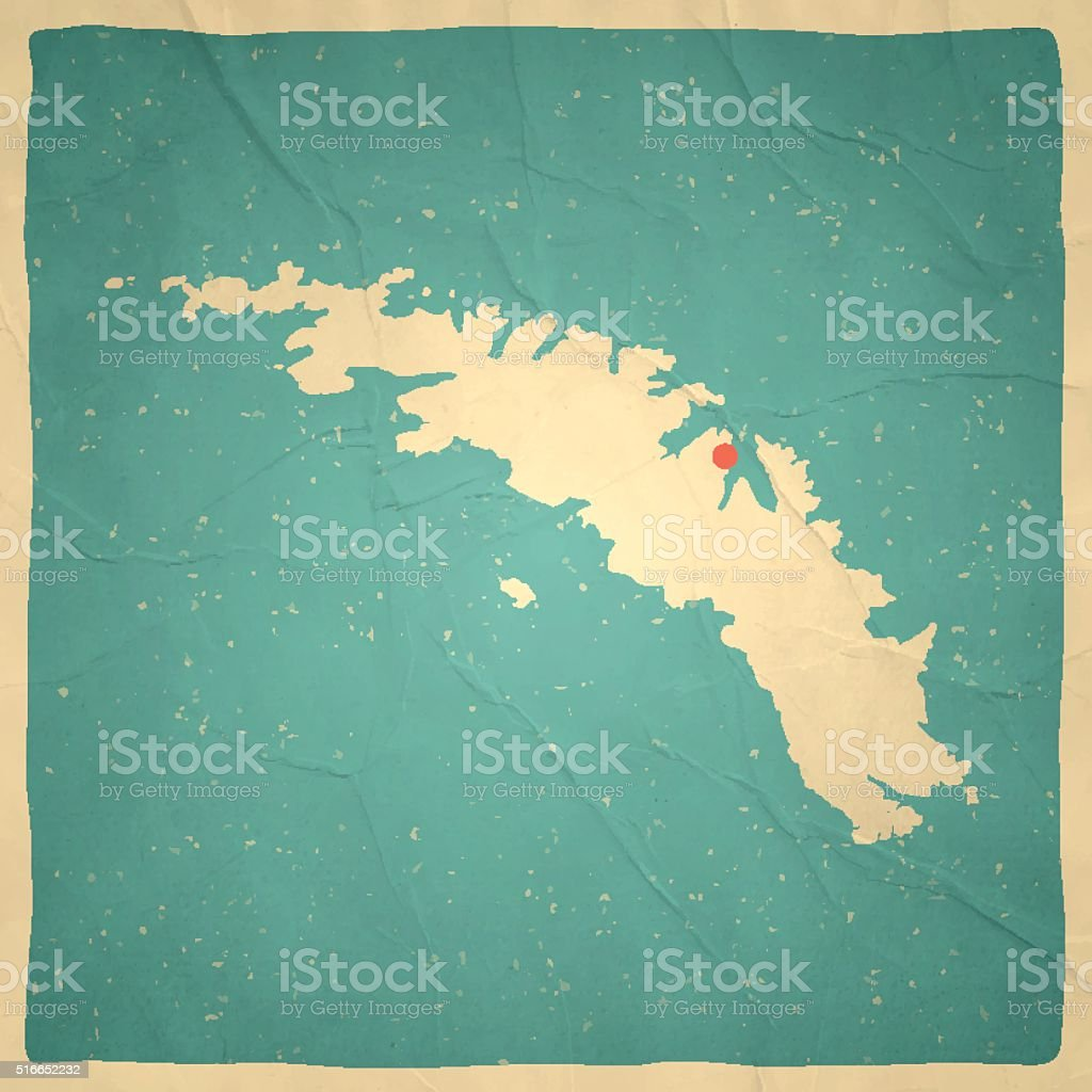 South Georgia and South Sandwich Islands Map, old paper, vintage vector art illustration
