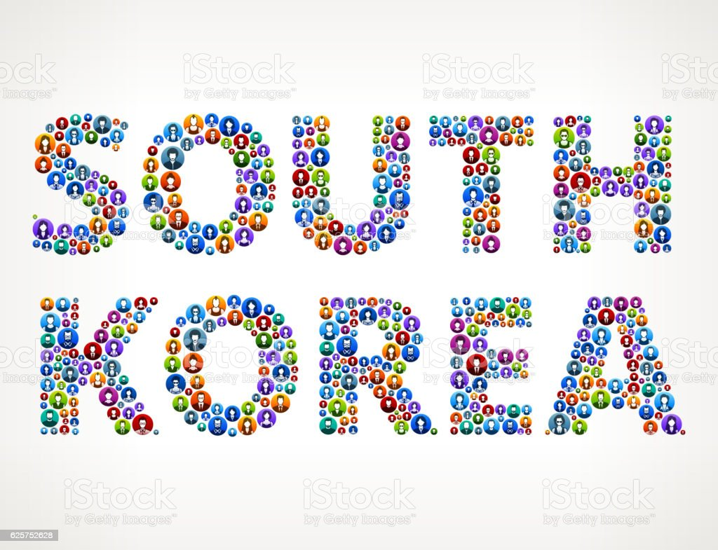 South Korea People Circle Vector Graphic Illustration vector art illustration