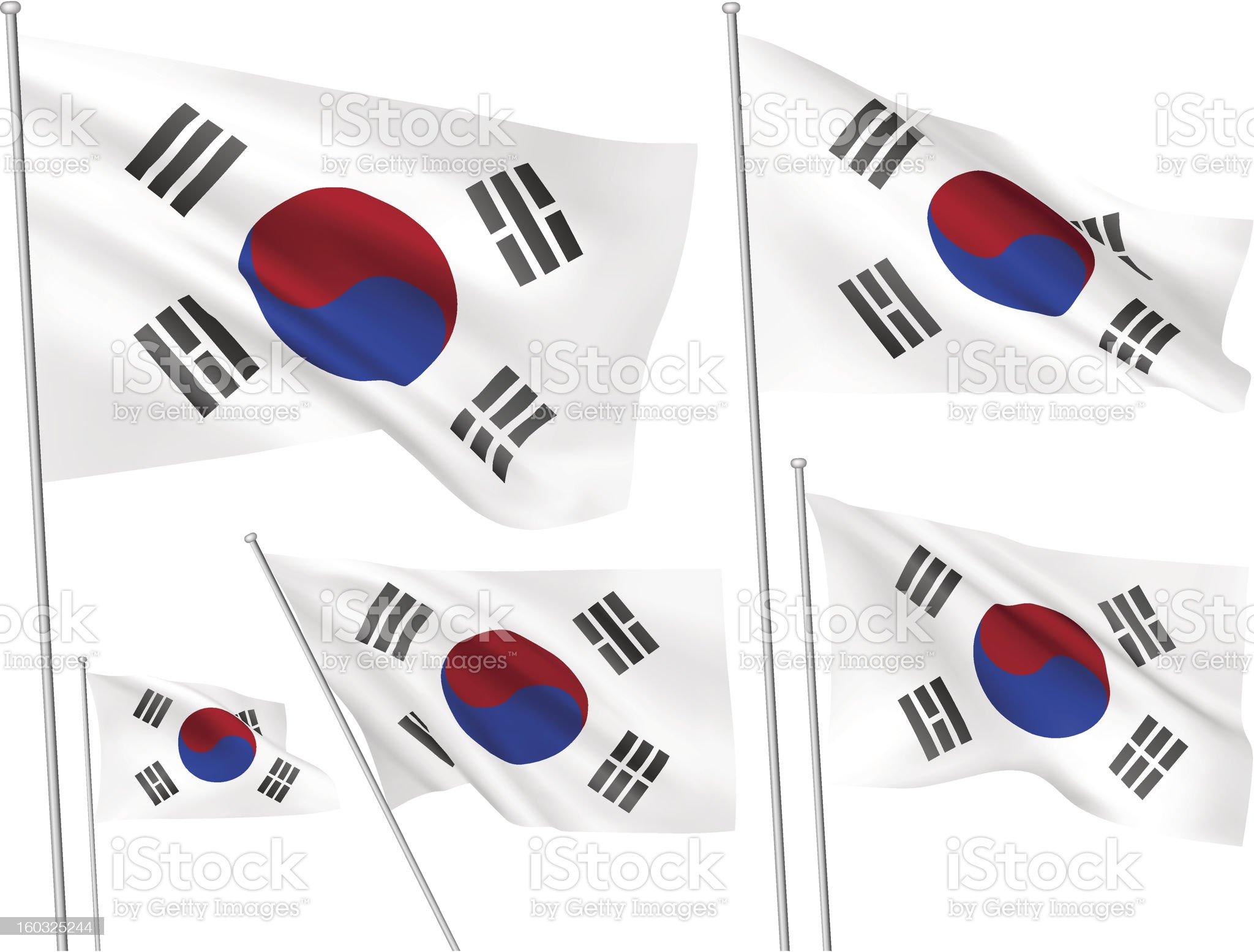 South Korea vector flags royalty-free stock vector art