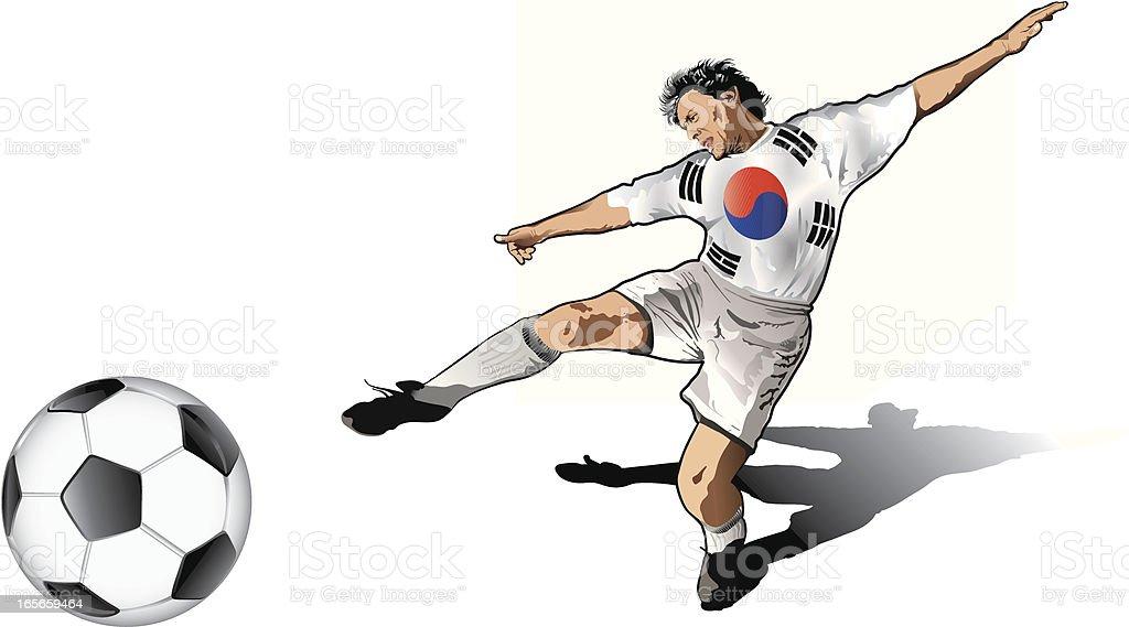 South Korean soccer player royalty-free stock vector art