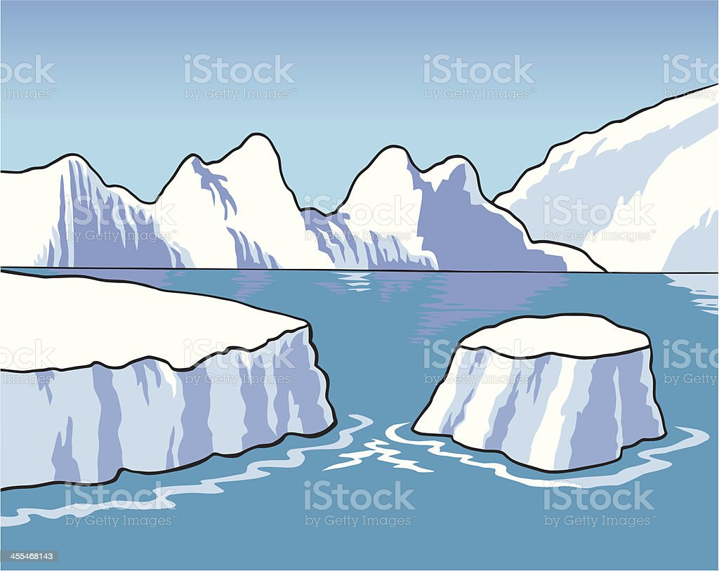 South Pole vector art illustration
