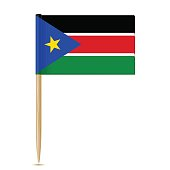 South Sudan flag toothpick 10eps