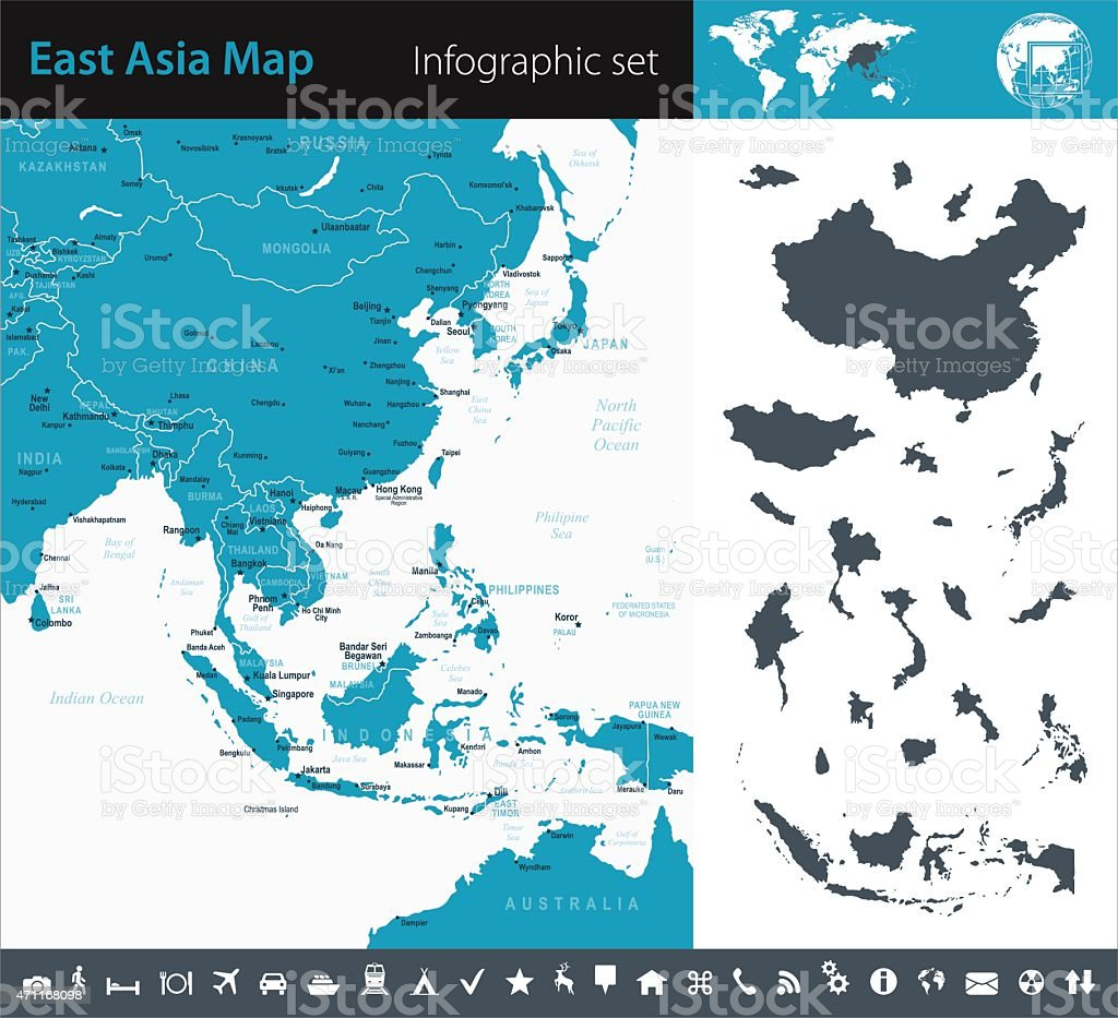 Southeast Asia - Infographic map - illustration vector art illustration