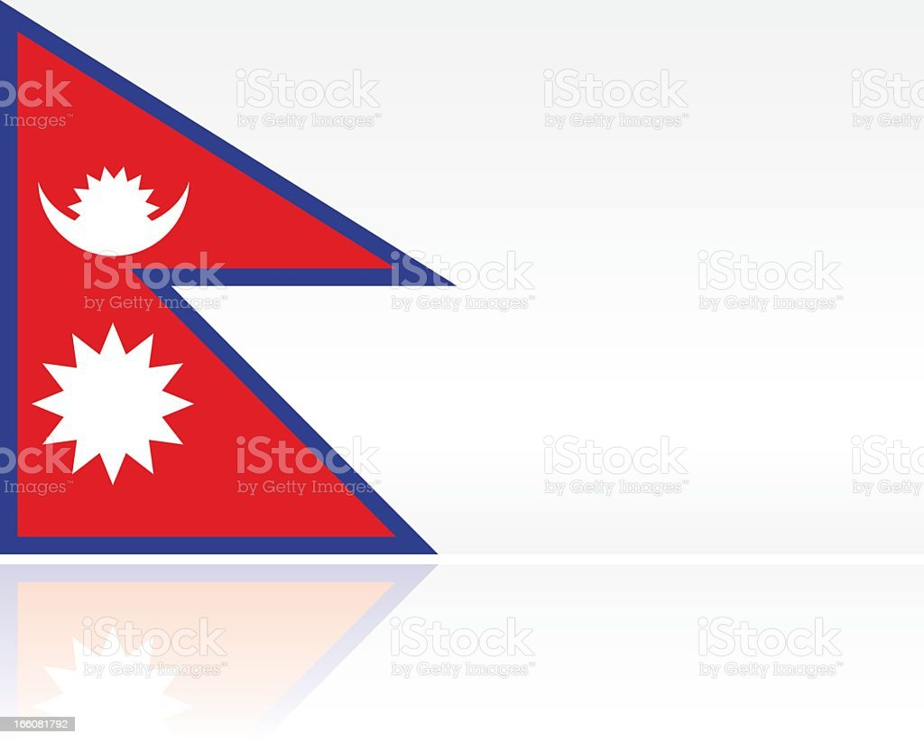 Southern Asian Flag: Nepal vector art illustration