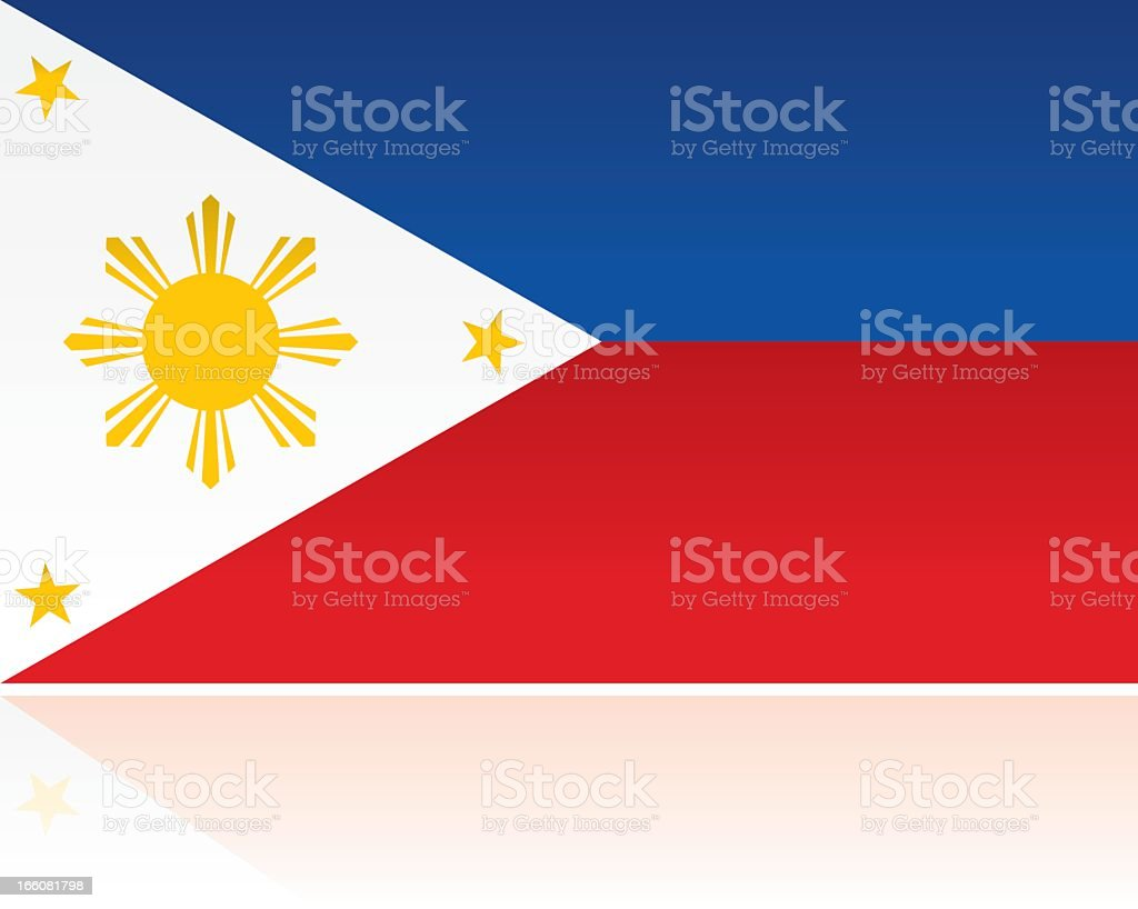 Southern Asian Flag: Philippines vector art illustration