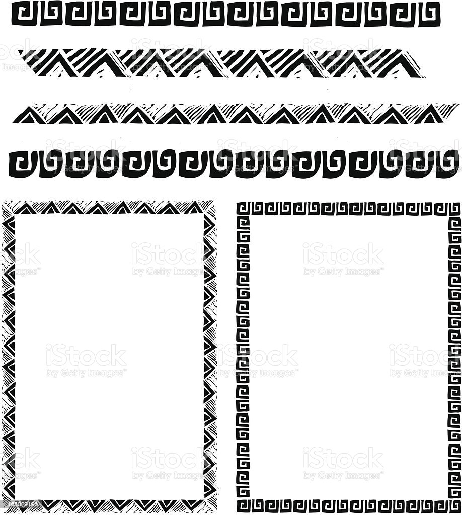 Southwest Border Pack royalty-free stock vector art