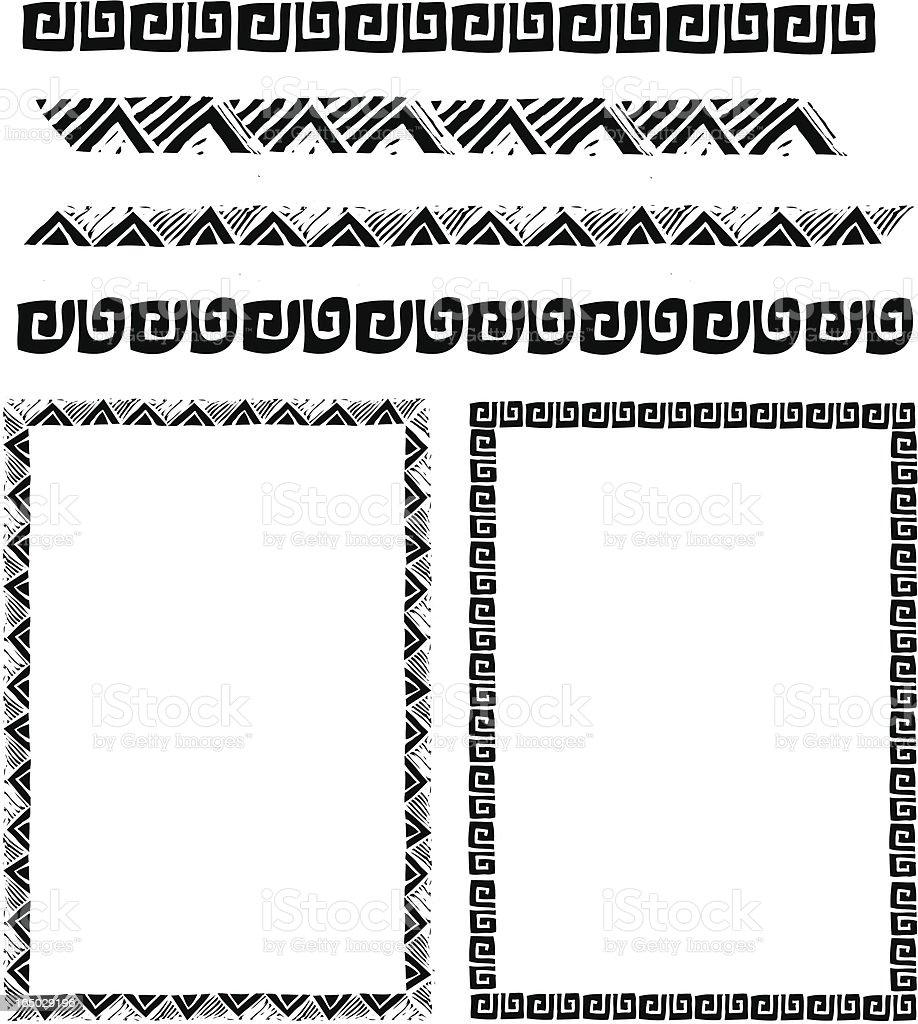 Southwest Border Pack vector art illustration