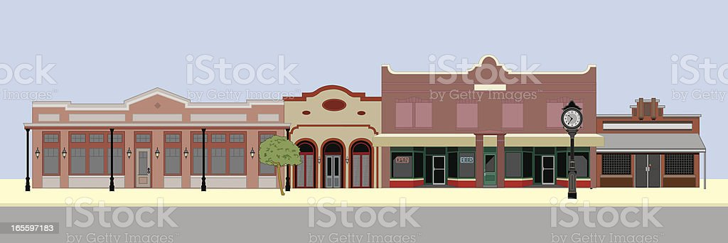 Southwest Style Buildings royalty-free stock vector art