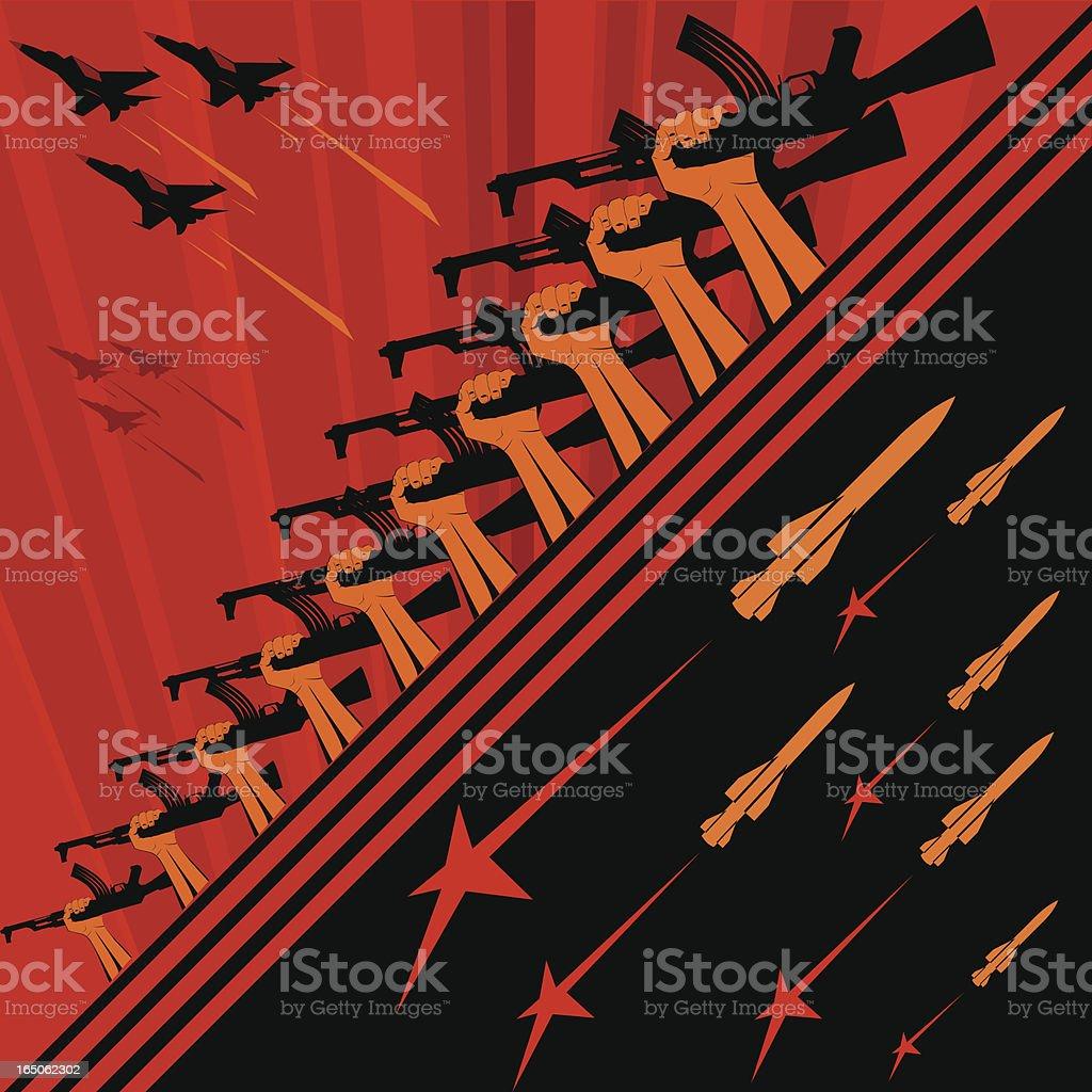Soviet art propaganda poster vector art illustration