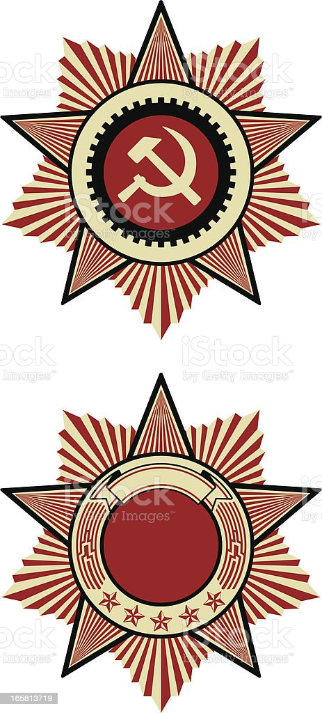 soviet emblem vector art illustration