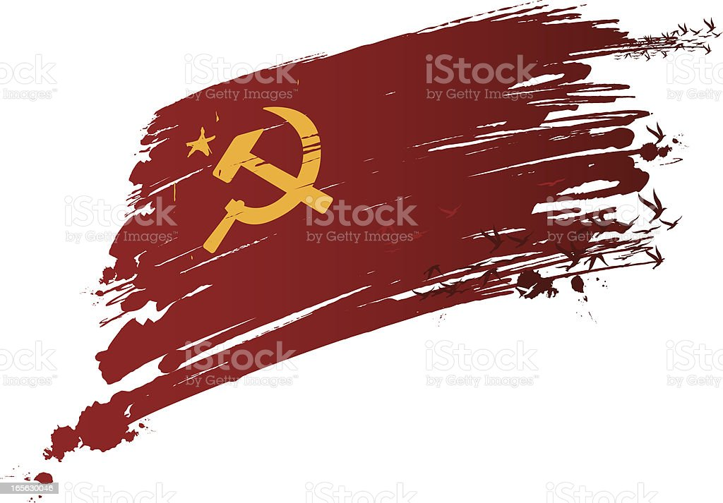 soviet ink made flag royalty-free stock vector art