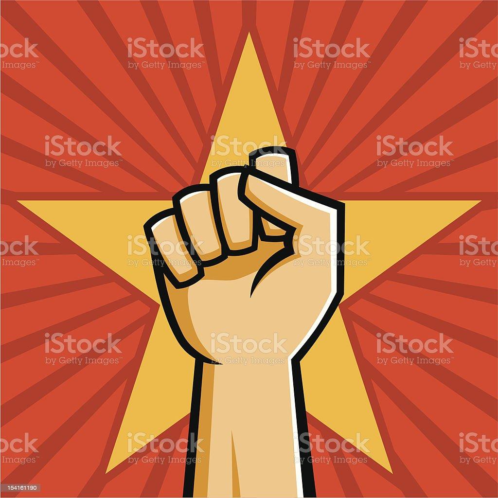 Soviet Raised Fist royalty-free stock vector art
