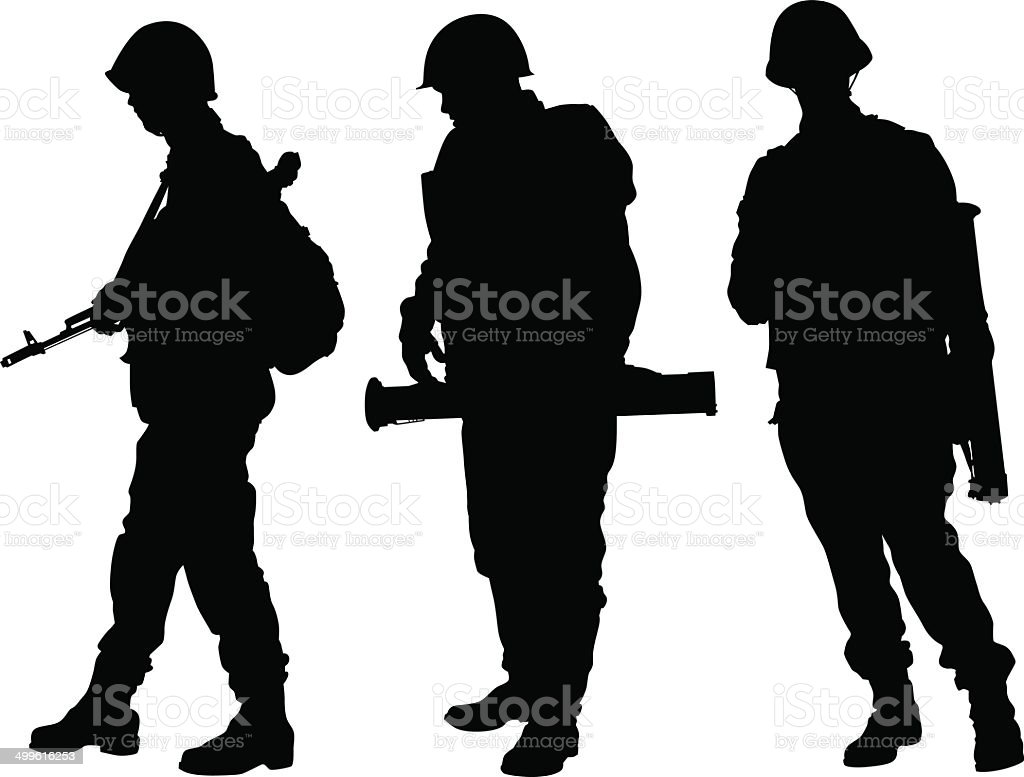 Soviet soldiers royalty-free stock vector art