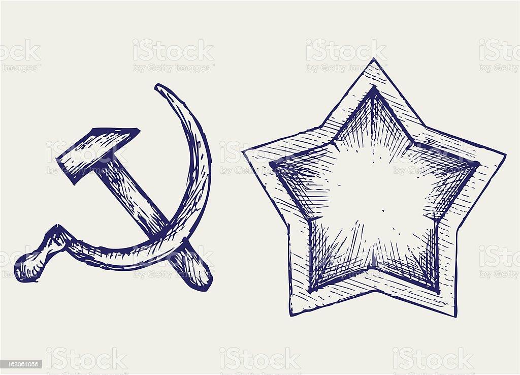 Soviet star icon royalty-free stock vector art