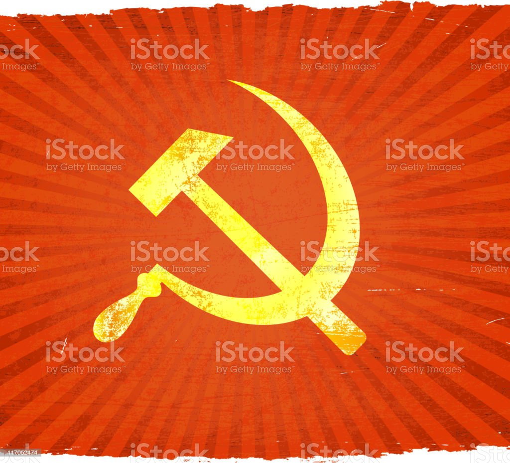 CCCP Soviet Union Communist insignia on royalty free vector Background royalty-free stock vector art