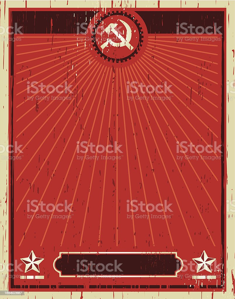 sovietic poster vector art illustration