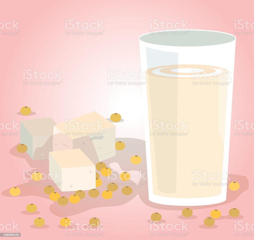 soy milk vector art illustration