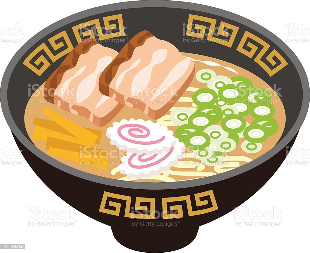 soy sauce Ramen vector art illustration