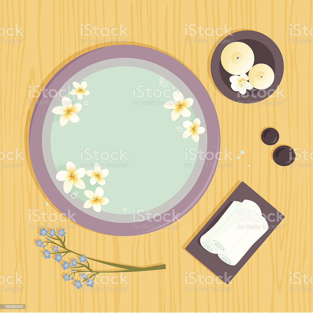 Spa Accessories royalty-free stock vector art