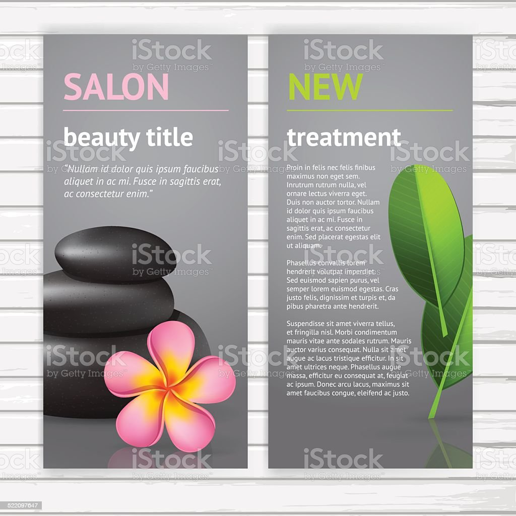 Spa advertisement flyer design vector art illustration