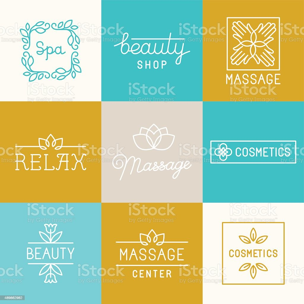 Spa and beauty logos vector art illustration