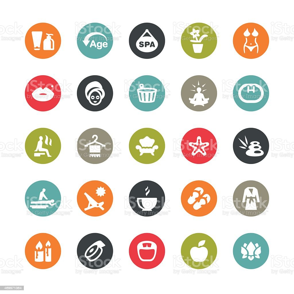 Spa and Beauty related vector icons / Ringico series vector art illustration