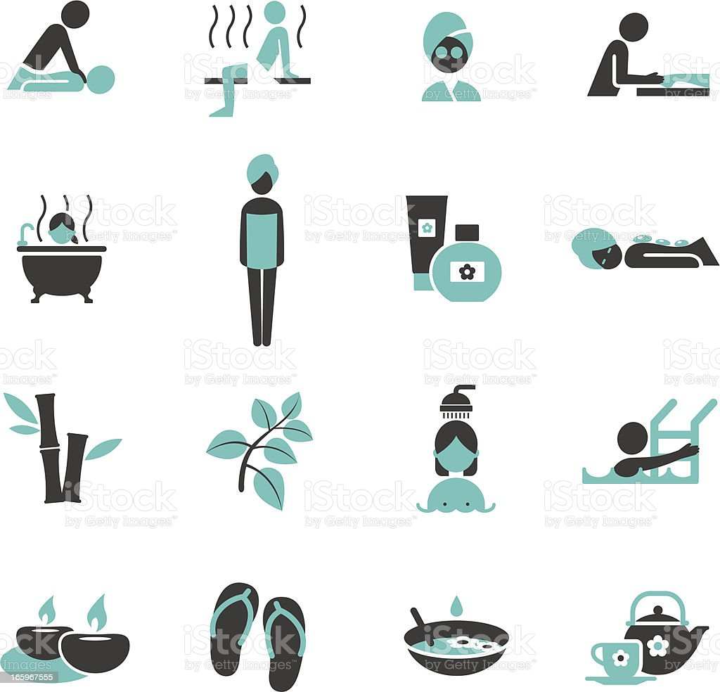 Spa and Wellness icons. vector art illustration