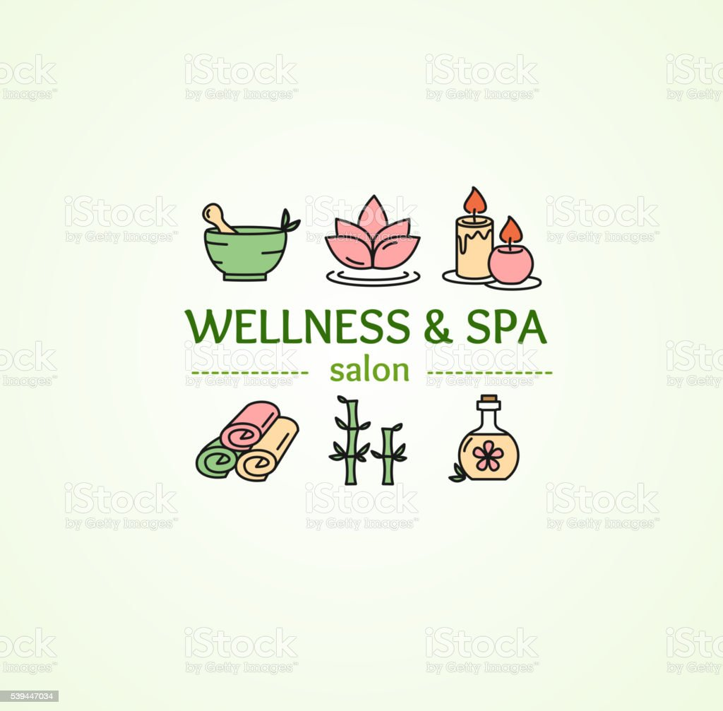 Spa Concept. Vector vector art illustration
