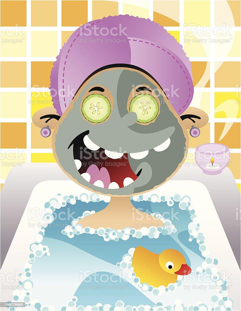 Spa Day vector art illustration