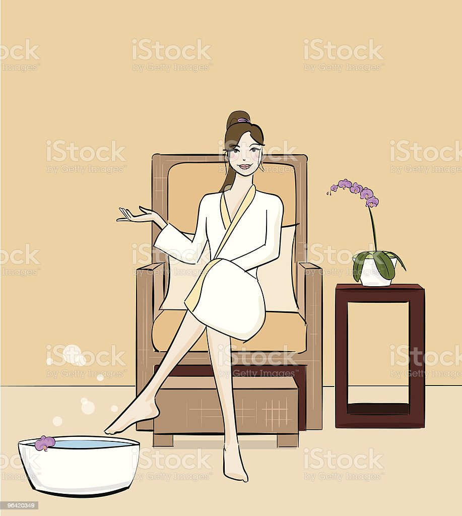 Spa Day royalty-free stock vector art