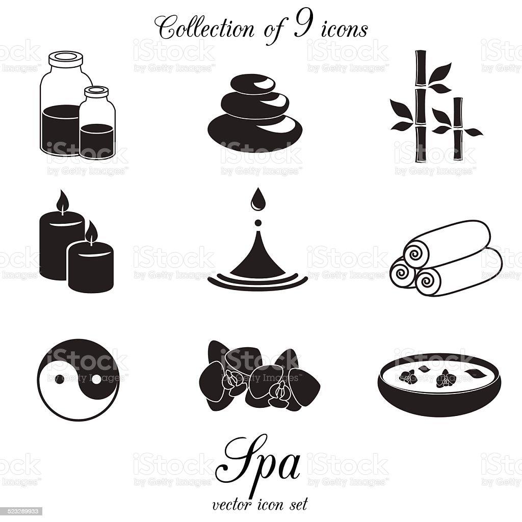 Spa icon set. vector art illustration