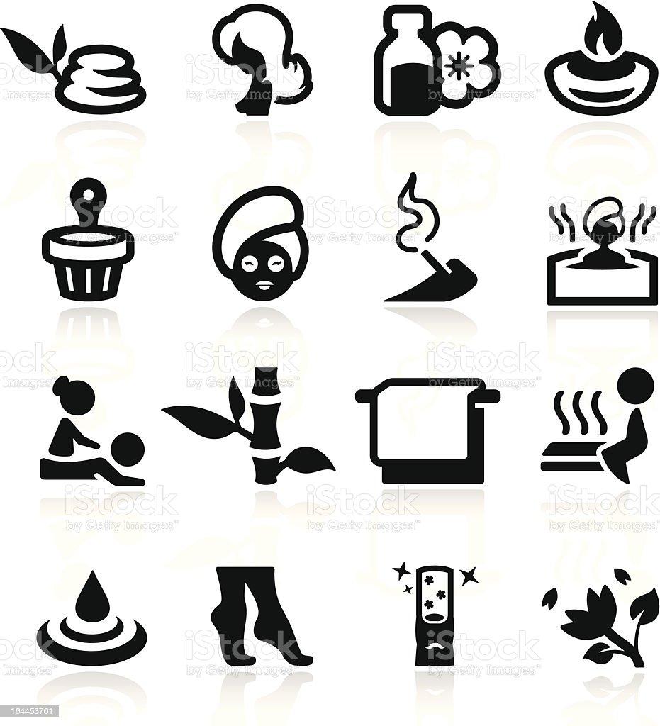 Spa icons set - elegant series vector art illustration