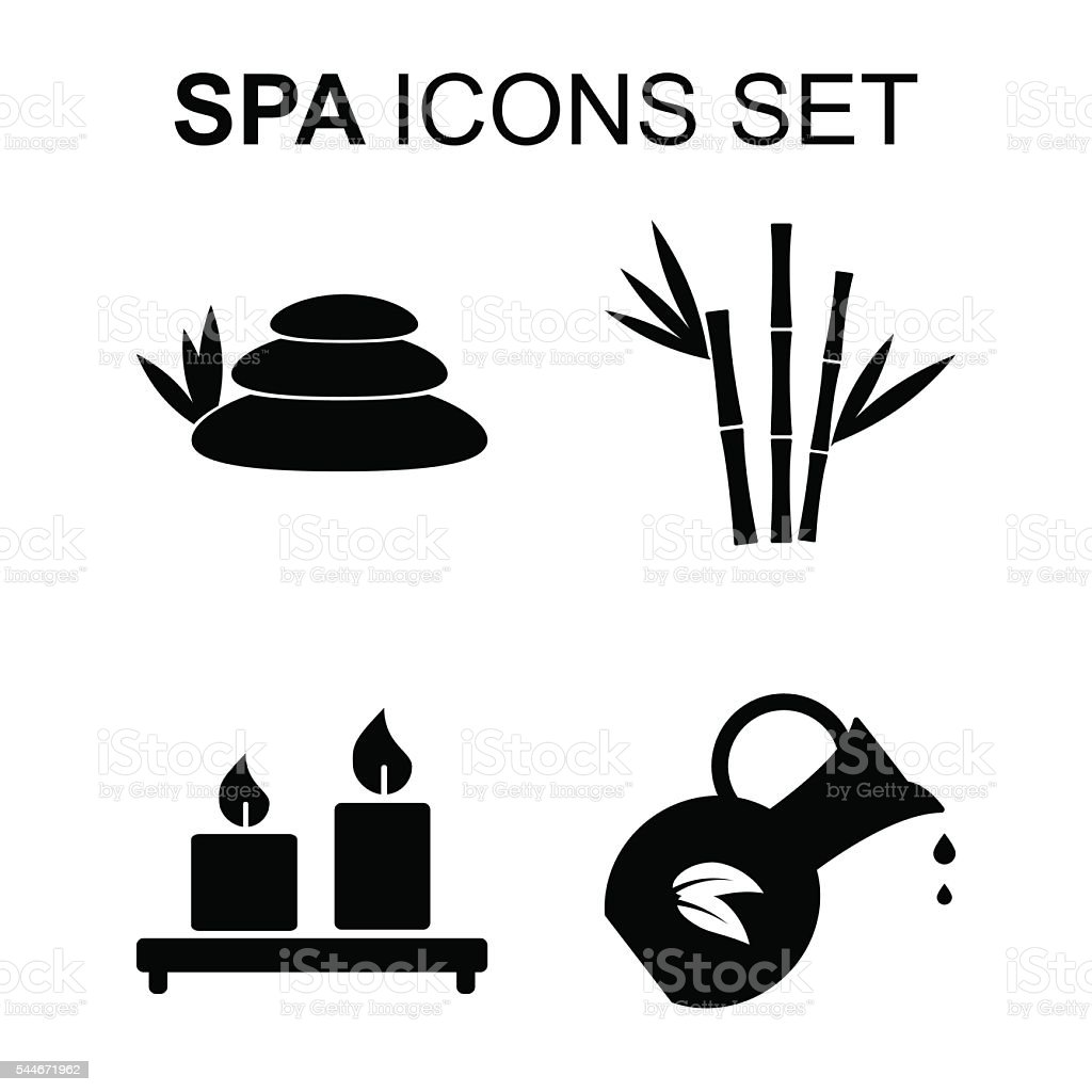 Spa icons set. Vector illustration vector art illustration