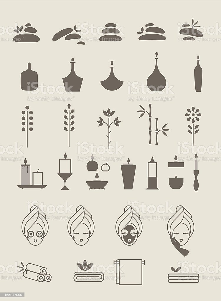 Spa icons royalty-free stock vector art