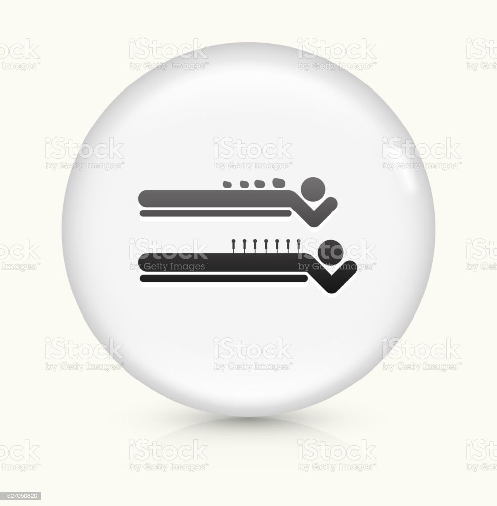 Spa Rock Massage icon on white round vector button vector art illustration