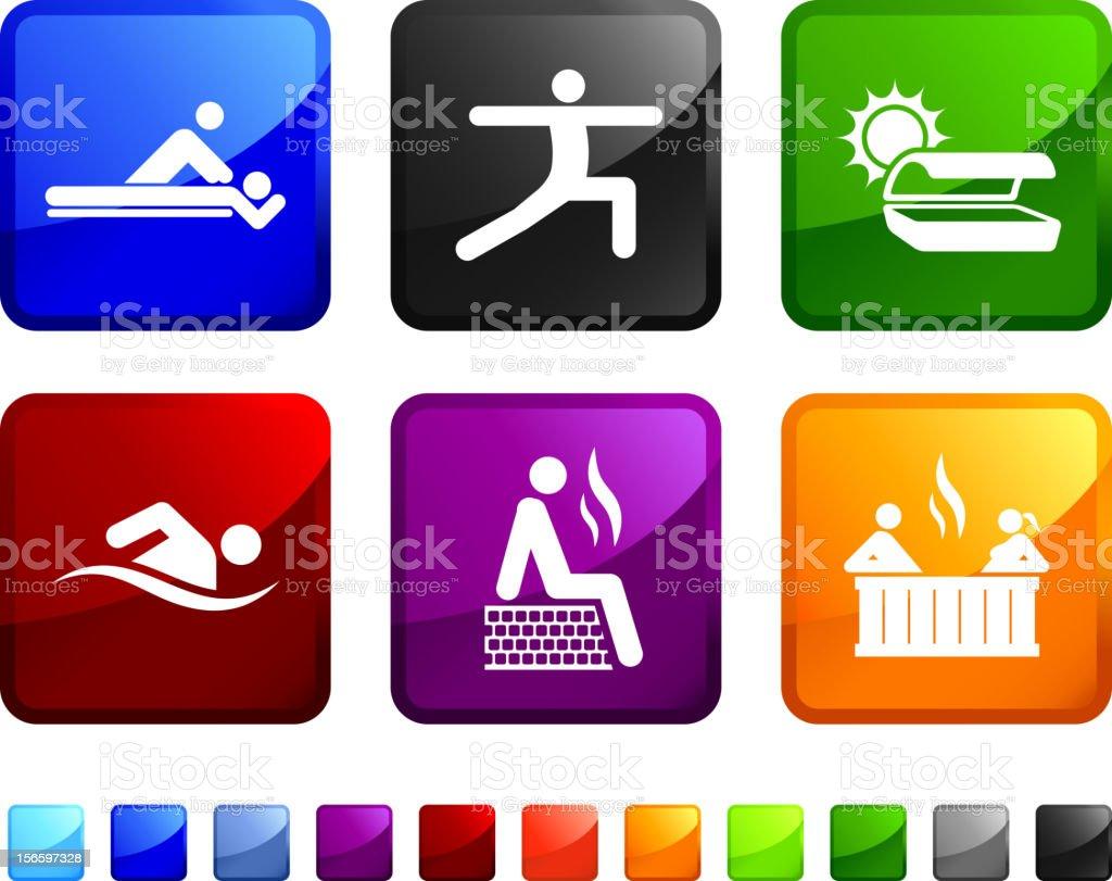 Spa royalty free vector icon set royalty-free stock vector art