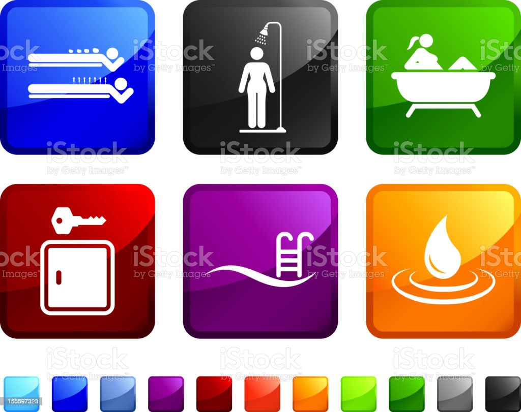 Spa services royalty free vector icon set royalty-free stock vector art