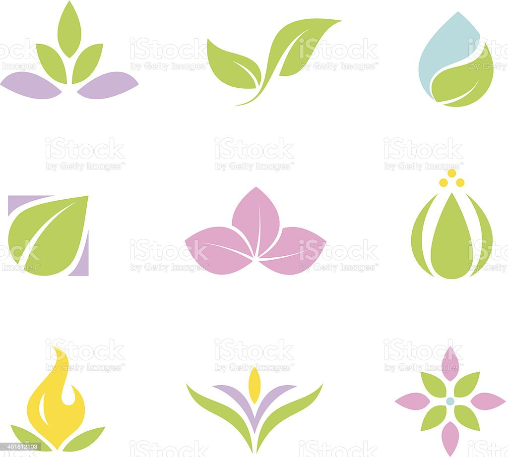Spa set logos and icons part vector art illustration