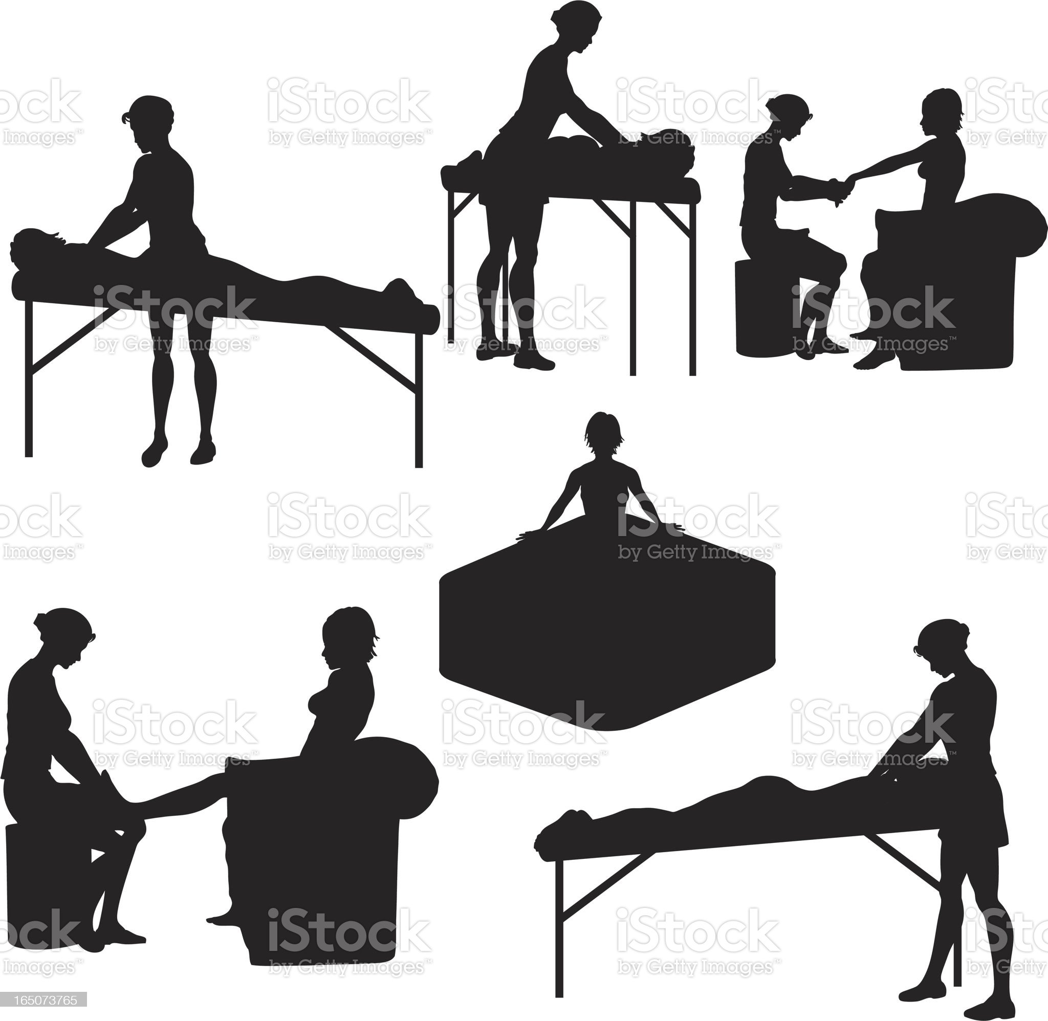 Spa Silhouette Collection royalty-free stock vector art