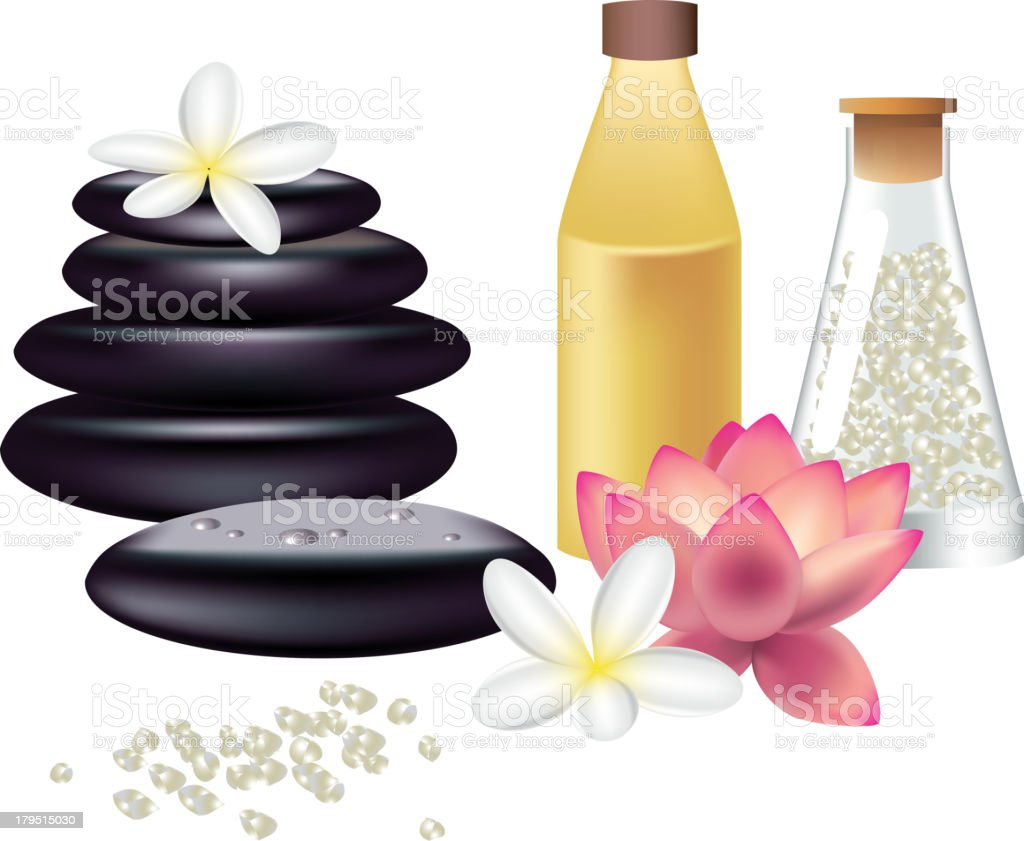 spa still life isolated on white royalty-free stock vector art