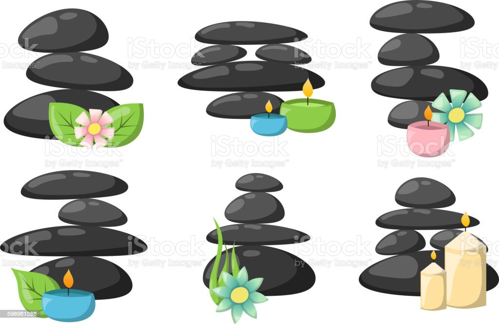 Spa stones isolated vector illustration. vector art illustration