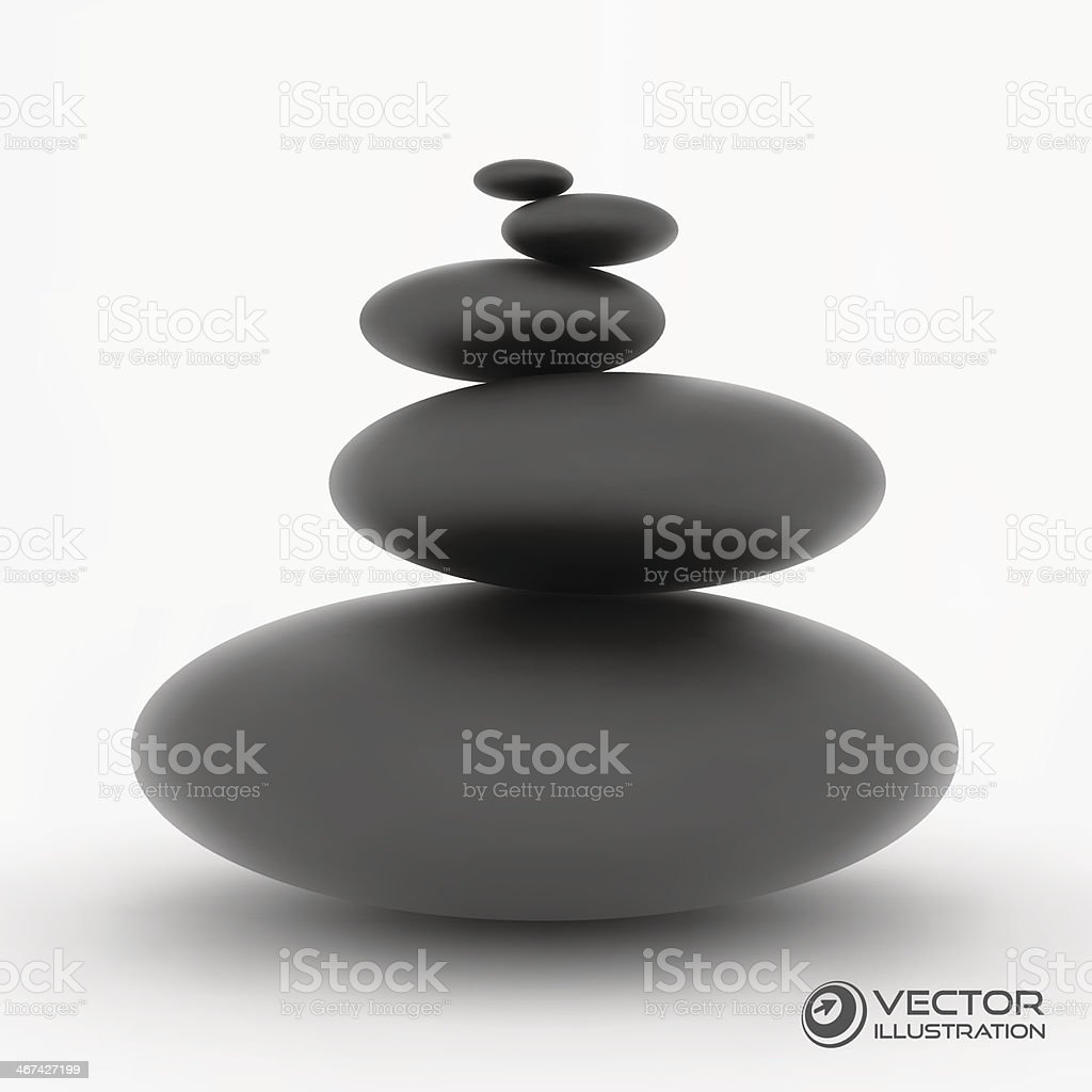 Spa stones. Vector 3d illustration. vector art illustration