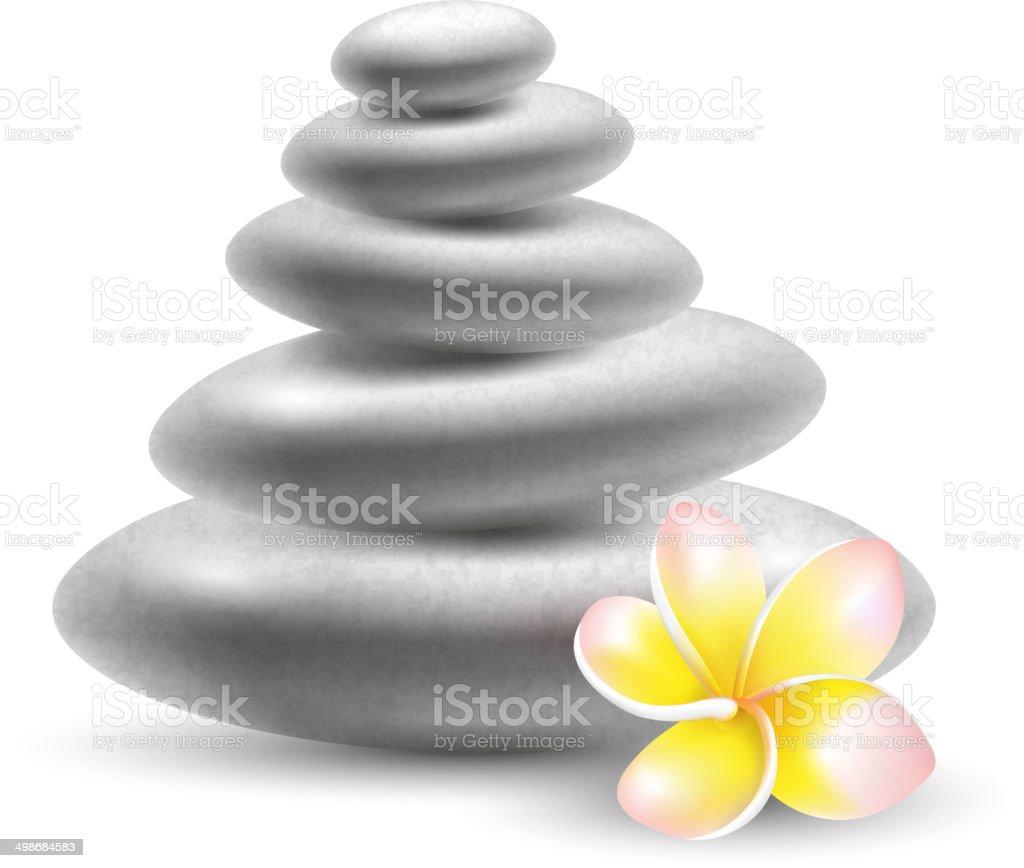 Spa stones vector art illustration