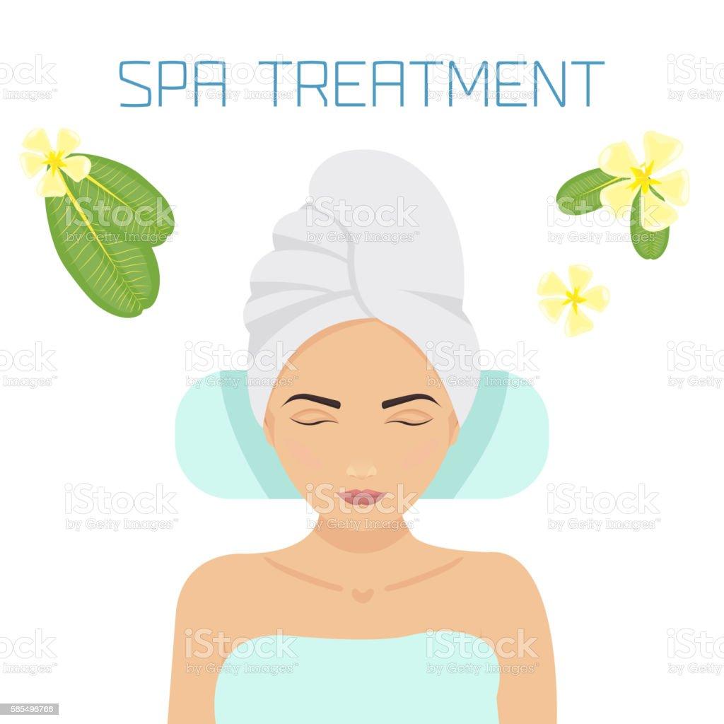 Spa treatment illustration vector art illustration