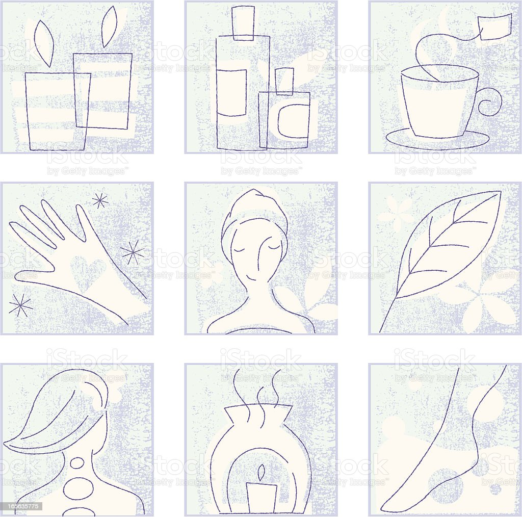 Spa Treatment vector art illustration