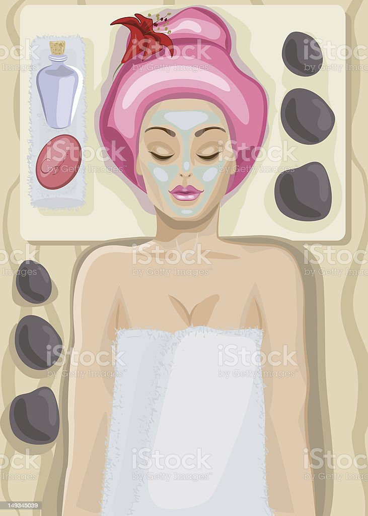 spa vector art illustration