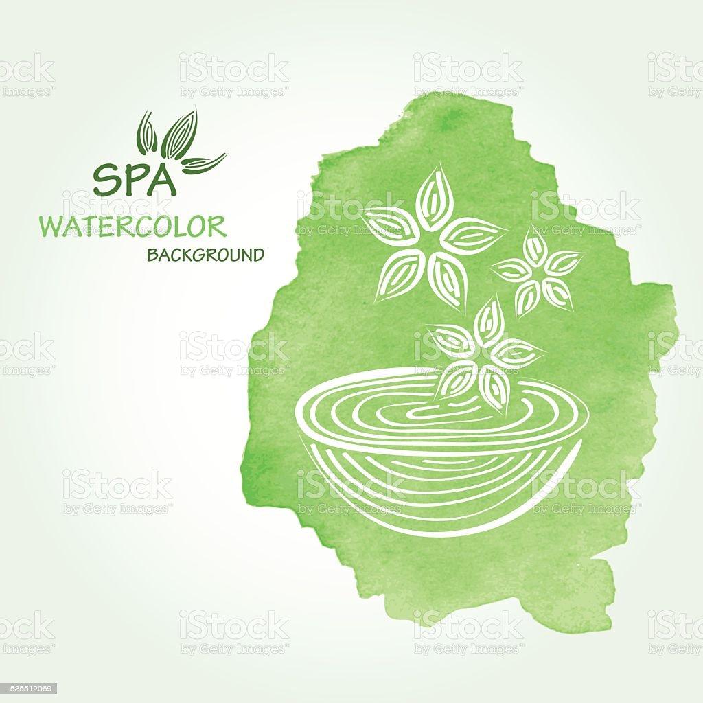 Spa watercolor background in vector. vector art illustration