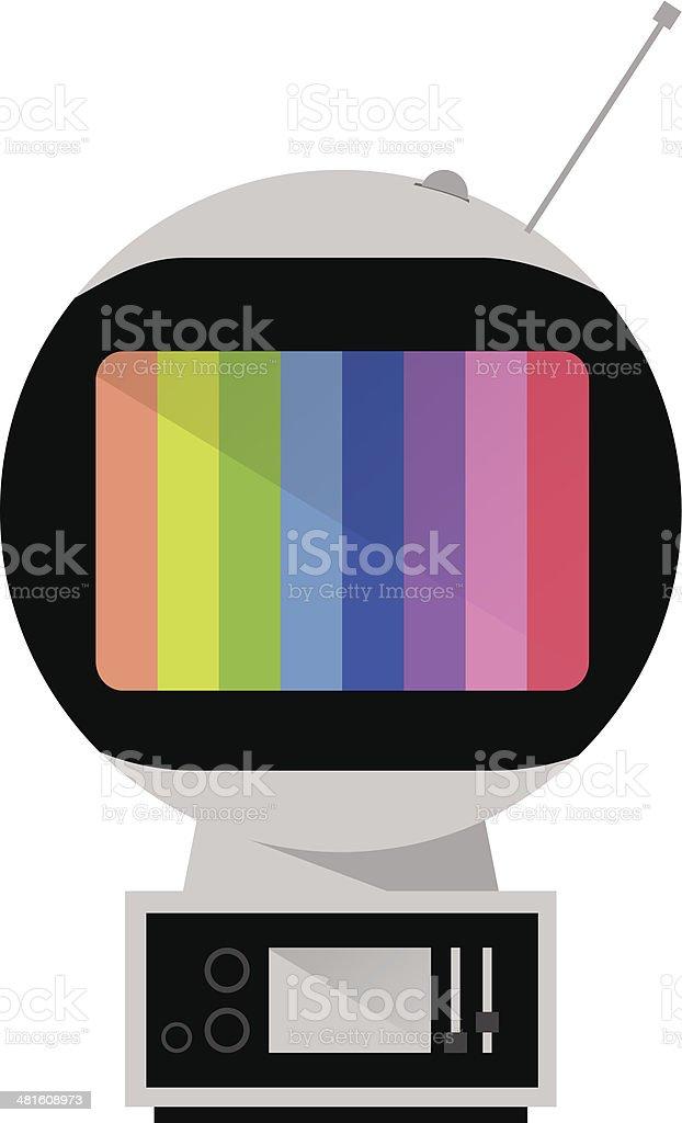 Space Age TV. Retro Television. vector art illustration