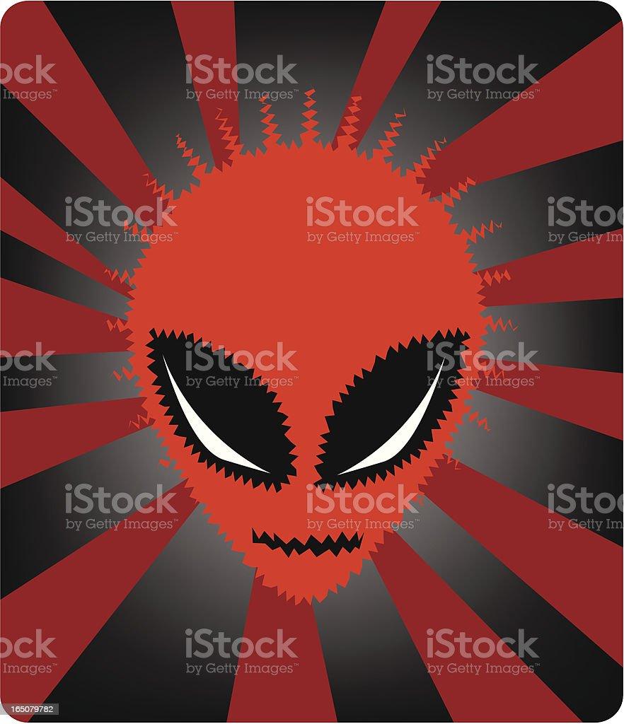 Space Alien royalty-free stock vector art