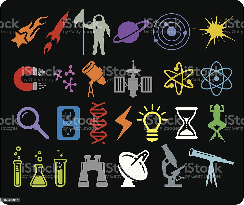 Space & Science Icons royalty-free stock vector art